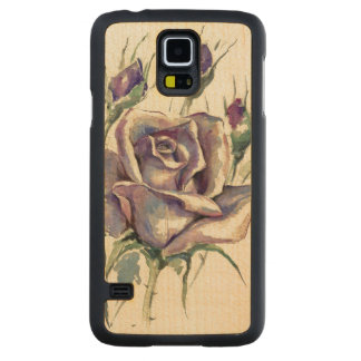 Rose 3 carved maple galaxy s5 case