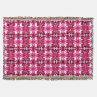 Rose 776 - 3 Fractal Rug Throw Blanket