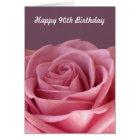 Rose 90th Birthday Card