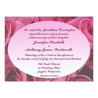 Rose Abstract Wedding 14 Cm X 19 Cm Invitation Card