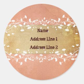 Rose Address Labels Round Sticker