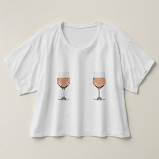 Rosé All Day Double Wine Glasses T-Shirt