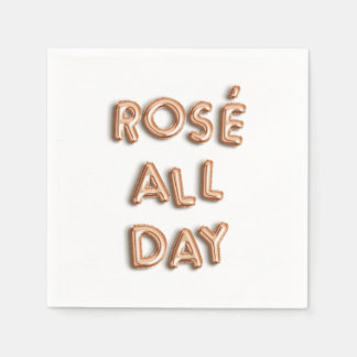Rosé All Day Paper Napkins