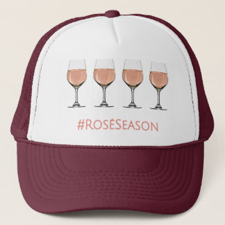 Rose All Day Rosé Wine Glass Patterned Hat