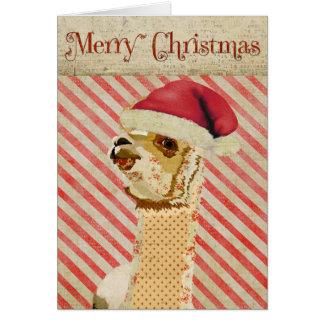 Rose Alpaca Christmas Card