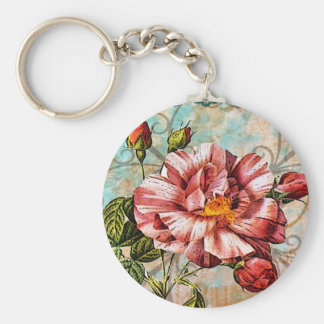 Rose and Blue Lace Keychain