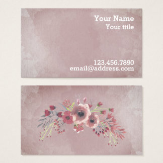 Rose and Blush Water Colour Business - Calling Business Card