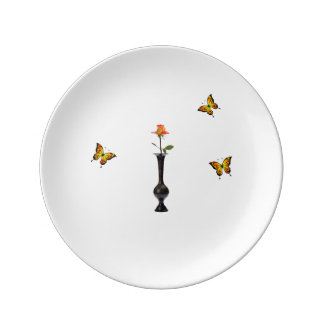 Rose and Butterflies Plate