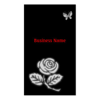 Rose and butterfly business card template