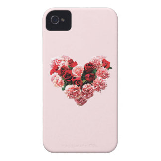Rose and Carnation Heart iPhone 4 Covers