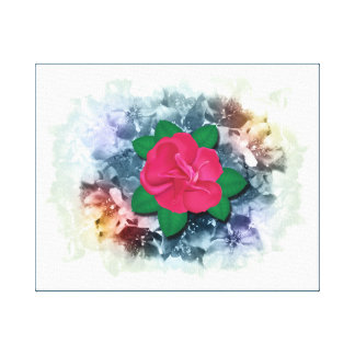 Rose and Crabapple Blossoms Stretched Canvas Print