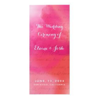 Rose and Cream Watercolor Full Color Rack Card