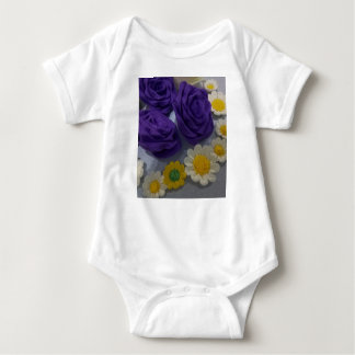 Rose and Daisy Flower Baby Bodysuit