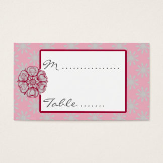 Rose and Dove Grey Wedding Reception Seating Card