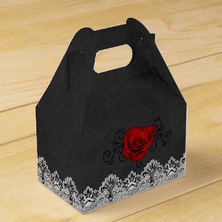 Rose and Filigree Elegant Favor Box Party Favour Boxes