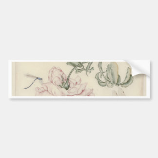 Rose and Five Insects Bumper Sticker