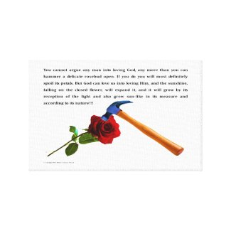 ROSE AND HAMMER CANVAS PRINT
