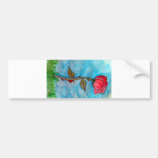 Rose and Ladybug Bumper Sticker