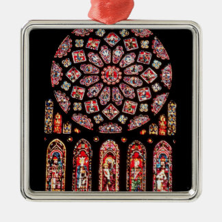 Rose and lancet windows from the north wall christmas ornament