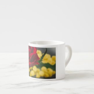 Rose and mimosas espresso cup