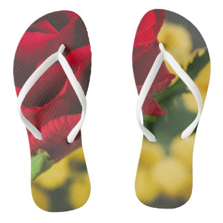 Rose and mimosas flip flops