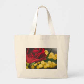 Rose and mimosas large tote bag