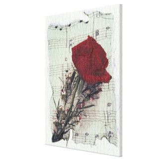 <Rose and Music> by Kim Koza 2 Canvas Print