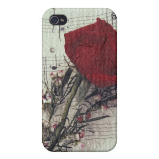 <Rose and Music> by Kim Koza 2 iPhone 4 Case