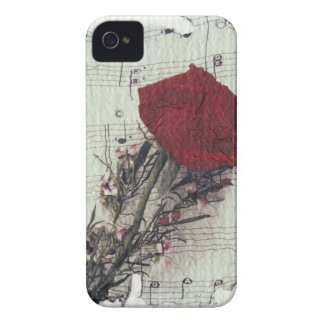 <Rose and Music> by Kim Koza 2 iPhone 4 Case-Mate Case