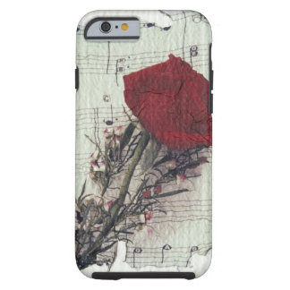 <Rose and Music> by Kim Koza 2 Tough iPhone 6 Case