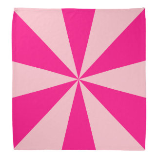 Rose and pink triangles bandana