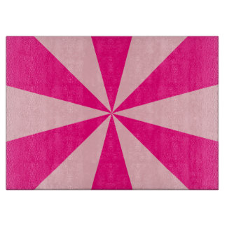 Rose and pink triangles cutting board