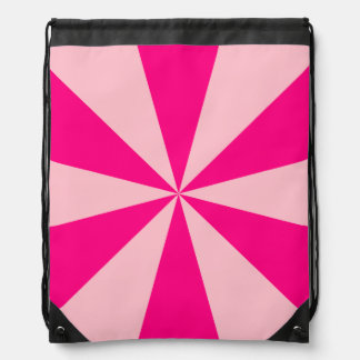 Rose and pink triangles drawstring bag