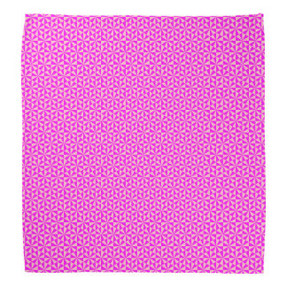 Rose and pink triangles pattern bandana
