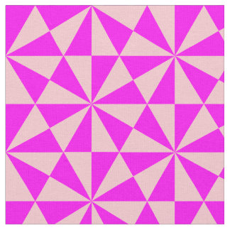 Rose and pink triangles pattern fabric