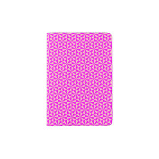 Rose and pink triangles pattern passport holder