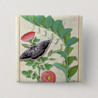 Rose and Polygonatum 15 Cm Square Badge