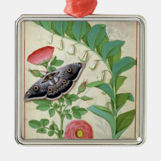Rose and Polygonatum Christmas Ornament