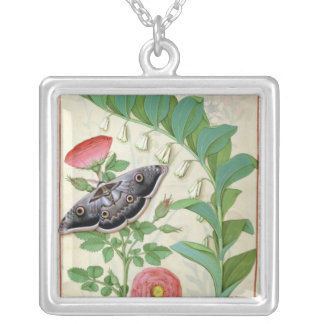 Rose and Polygonatum Silver Plated Necklace