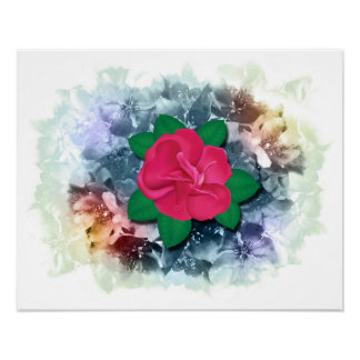 Rose and Rainbow Crabapple Blossoms Posters