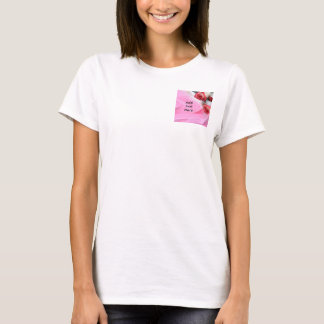 Rose and silk T-Shirt