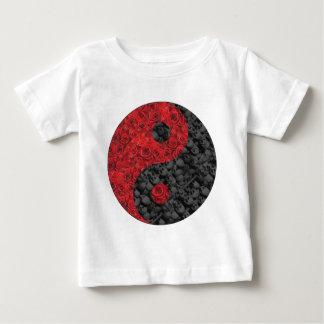 Rose and Skull Yin Yang Baby T-Shirt