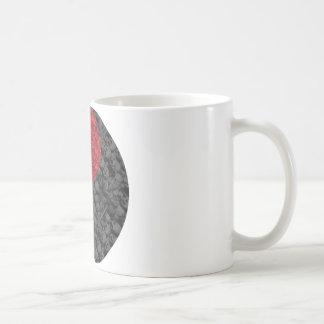 Rose and Skull Yin Yang Basic White Mug