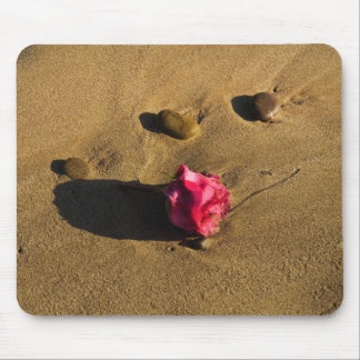 Rose and Stones Mouse Pad