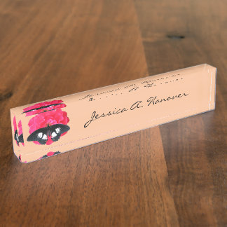 Rose and Swallowtail Name Plates