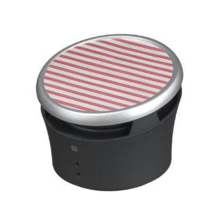 Rose and White Horizontal Stripe Bluetooth Speaker