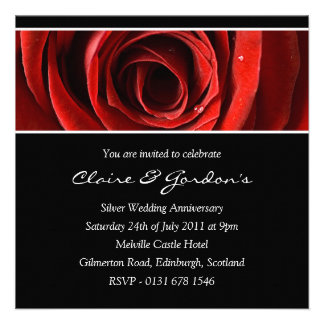 Rose Anniversary Party Invitation