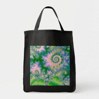 Rose Apple Green Dreams, Abstract Water Garden Bags