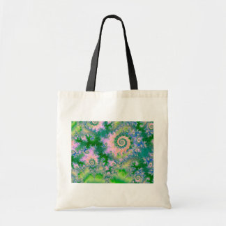 Rose Apple Green Dreams, Abstract Water Garden Budget Tote Bag