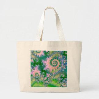 Rose Apple Green Dreams, Abstract Water Garden Canvas Bags